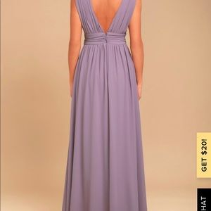 Lulu's Dresses - HEAVENLY HUES DUSTY PURPLE MAXI DRESS